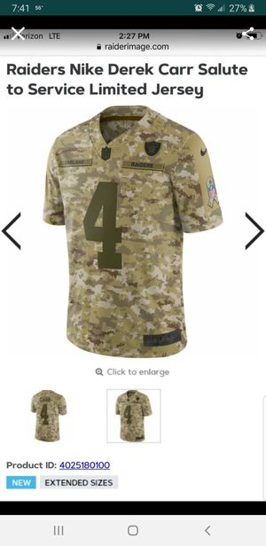 designer fashion a4a83 813c4 New and Used Raiders jersey for Sale in Moreno Valley, CA ...