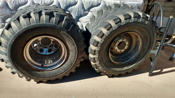 3x 17/40-16.5LT tires with rims gumbo monster mudders 17 ...