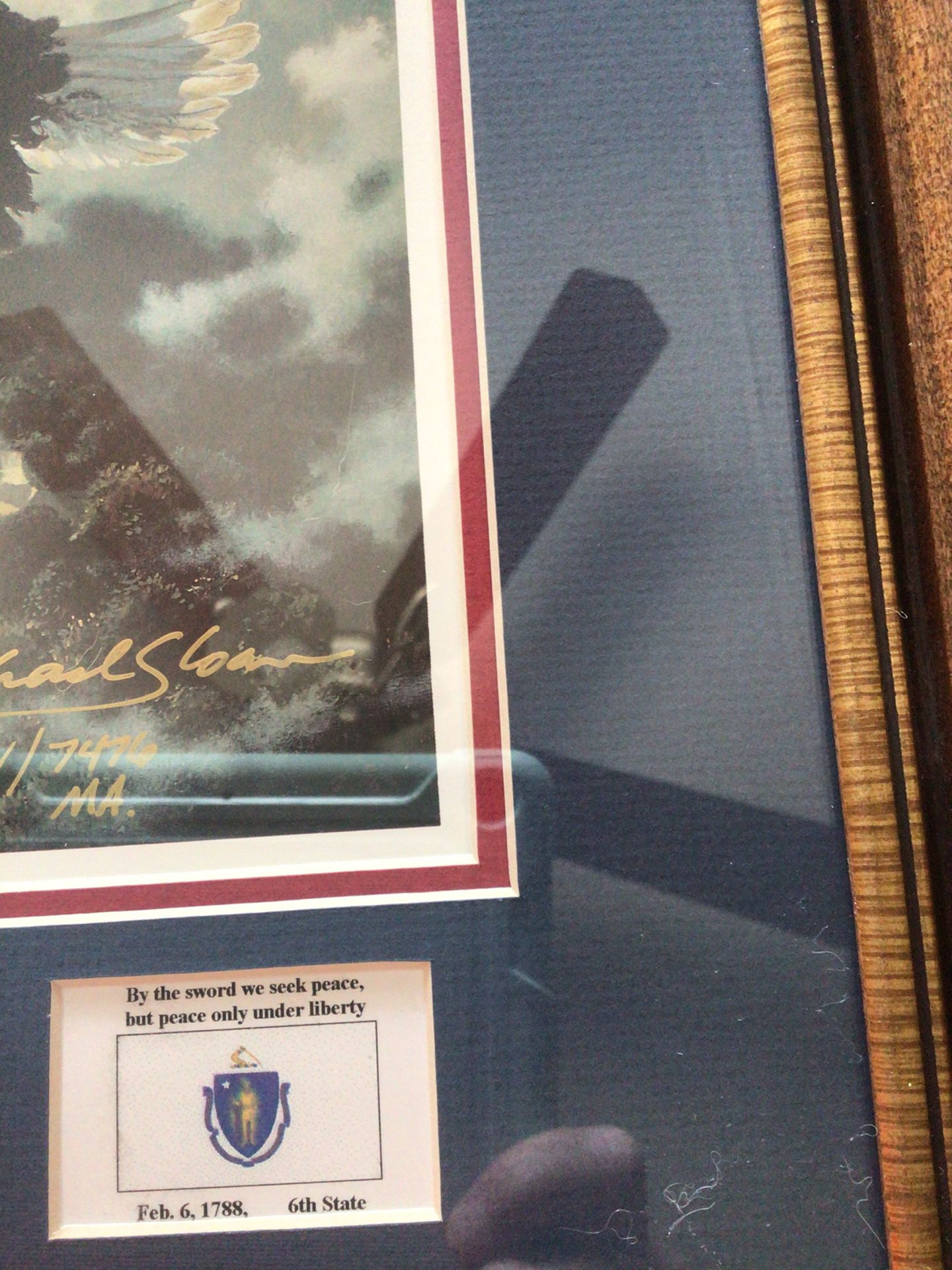 Bay State Michael Sloan Print Signed