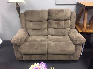 Mocha dual reclining loveseat floor model clearance sale for Sale in Essex, MD