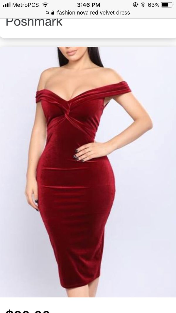 81f4b845853 Fashion Nova velvet red dress for Sale in Coral Gables