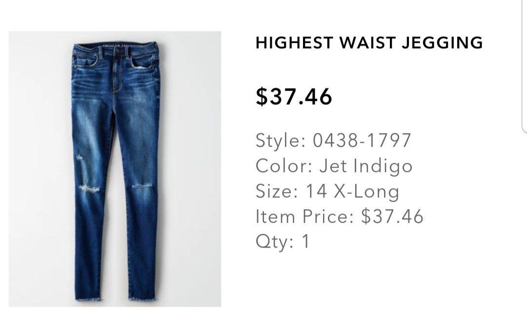 Womens high waist blue jeans