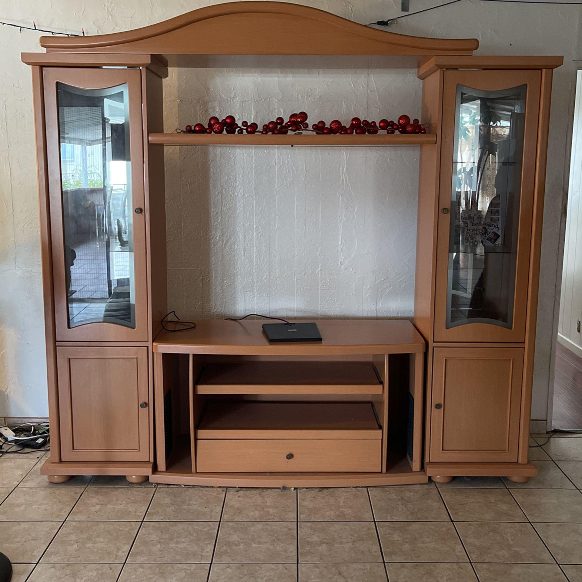 Polished Wood- TV Stand