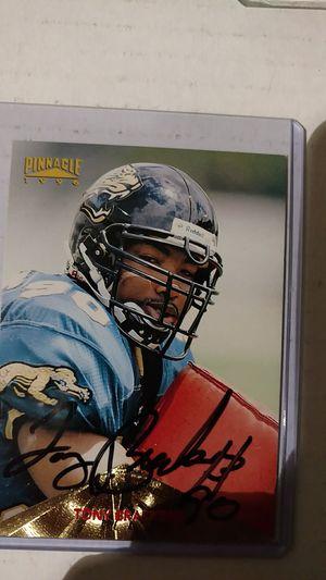 Tony Brackens Autograph card for Sale in Jacksonville, FL