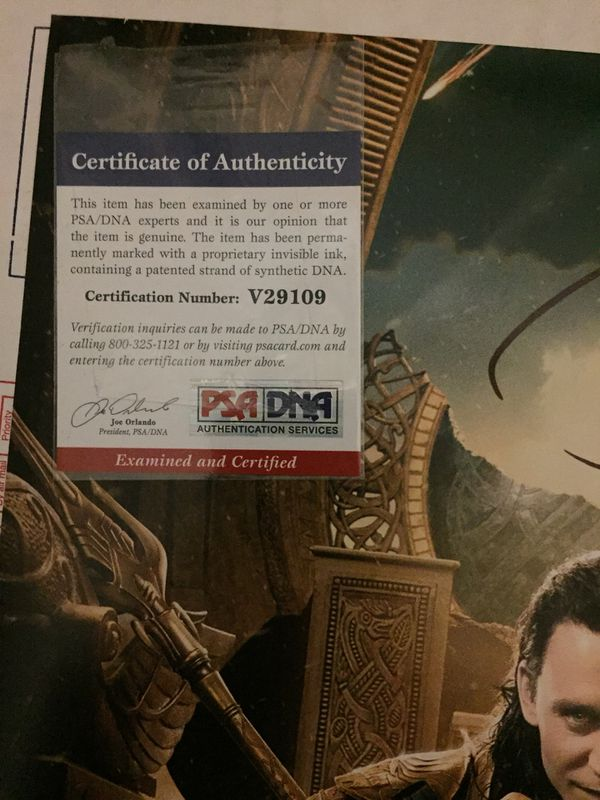 2 Psa Certified Autographed Pristine Pictures For Sale In Seattle