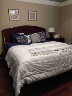 King-size bedroom suit includes matress box springs Thumbnail