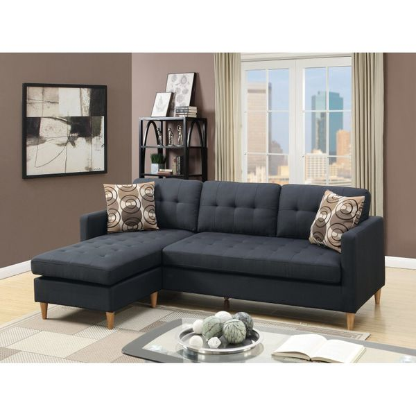 NEW BLACK SECTIONAL SOFA REVERSIBLE for Sale in Clifton, NJ - OfferUp