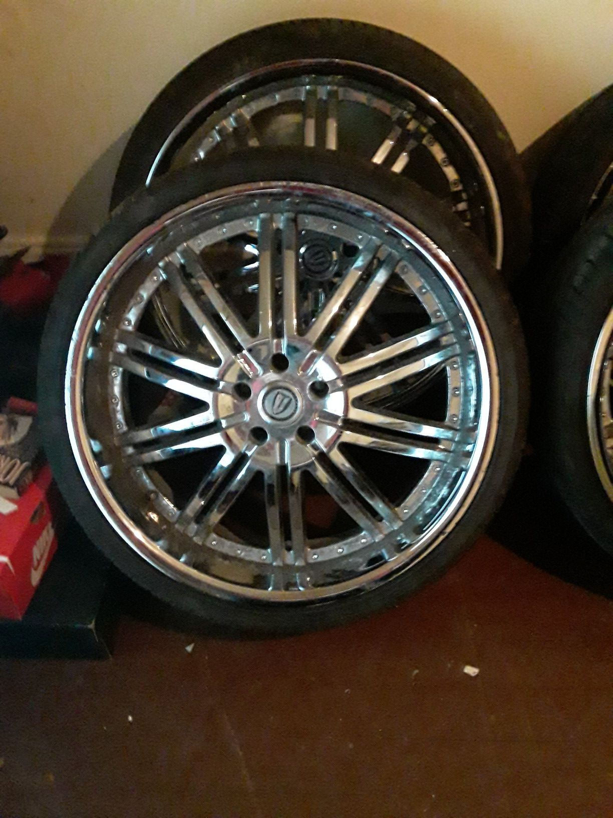 22 tires and rims for sale 600.00