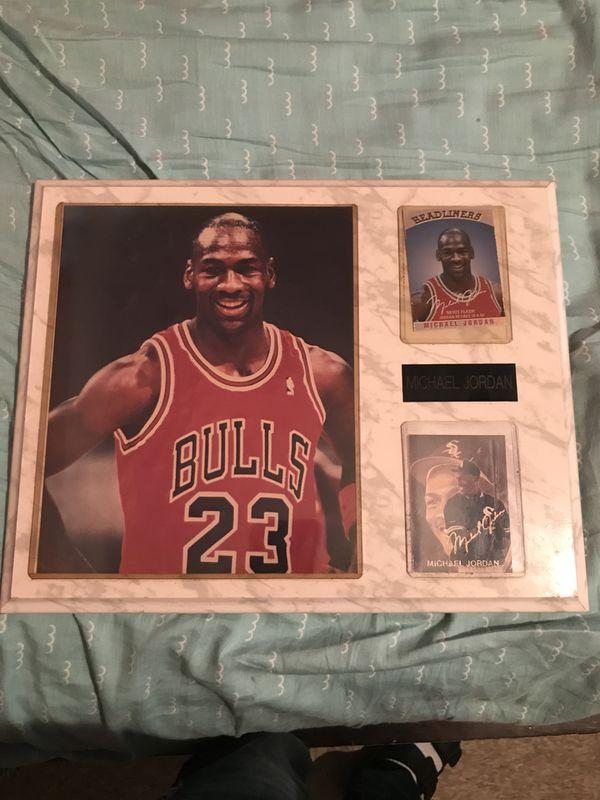 hot sale online 02e52 e08c0 Michael Jordan plaque comes with Michael Jordan picture and very rare  Headliners news flash Jordan retires card as well as Jordan baseball card!!  for ...