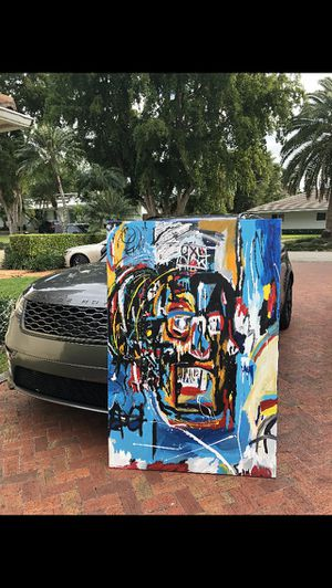 Reverse basquiat painting for Sale in Miami, FL