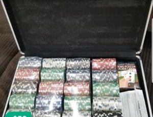 Steel case pro poker chip set for Sale in Oakton, VA