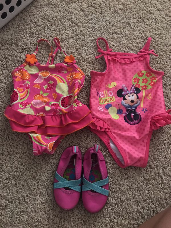 6f96492b68f Toddler Baby Girls Minnie Mouse or fruit baby girls 18 months bathing swim  suits - beach