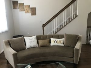 Z Gallerie Half Sectional Nude/Beige Couch for Sale in Upper Marlboro, MD