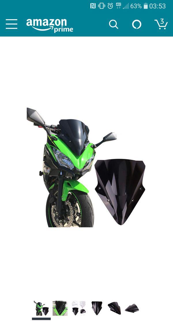 Kemimoto Fits 2017 Kawasaki Ninja 650 Windscreen Windshield