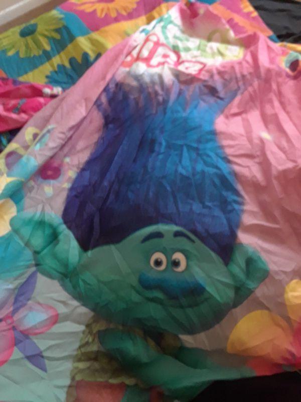 Trolls Shower Curtain Twin Comforter Trash Can