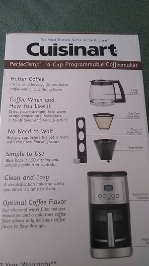 CUISINART 14 CUP PROGRAMMABLE COFFEEMAKER (MODEL DCC-3200) for Sale in Gaithersburg, MD