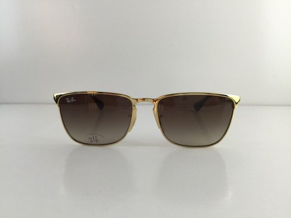 Gently Used Ray-Ban Sunglasses RB 3508 001 13 Gold Metal Full-Frame Brown  Gradient lens 56mm for Sale in Alhambra, CA - OfferUp e72c445adb
