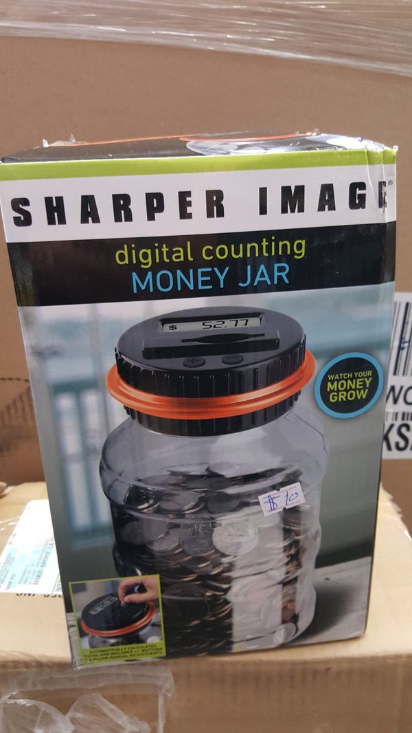 Sharper Image Digital Counting Money Jar For Sale In Lancaster Ca