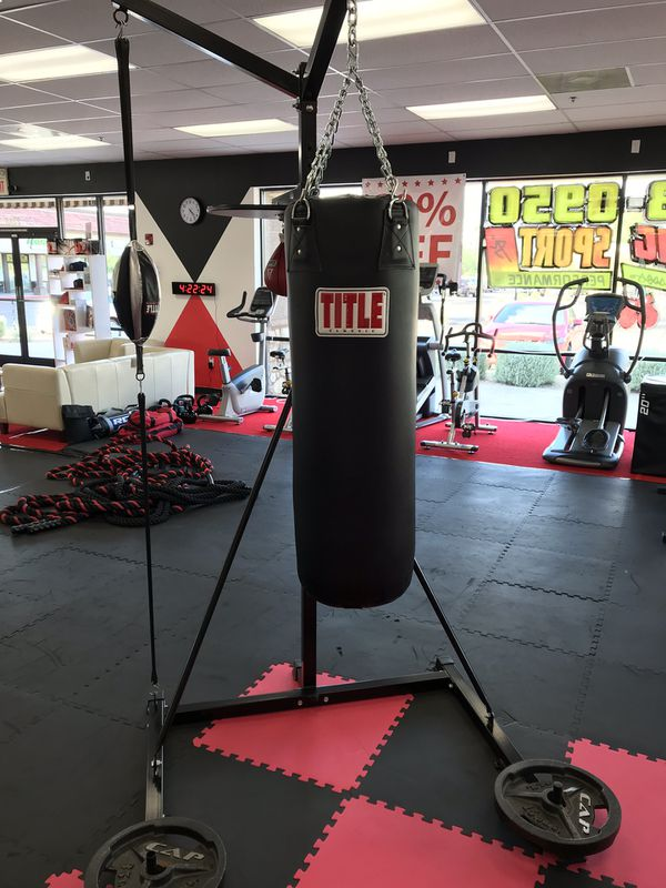 2a90d2161ae TITLE 4-SCORE PUNCHING BAG STAND WITH BAGS for Sale in Gilbert
