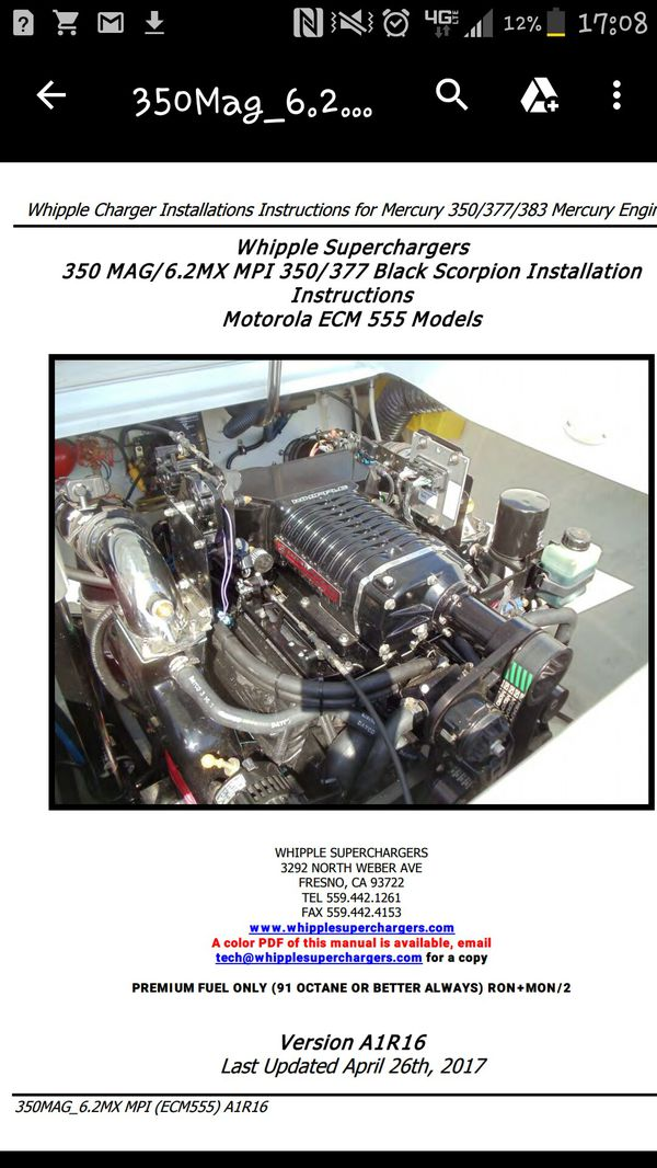 Whipple supercharger sbc mercruiser for Sale in Oceanside, CA - OfferUp