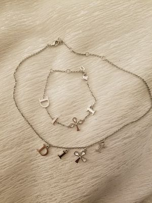 Authentic Dior necklace and bracelet set for Sale in Seattle, WA