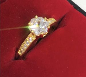 New 18 k yellow gold Engagement ring wedding ring set for Sale in Orlando, FL