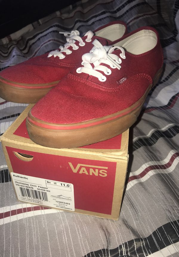 d3567beebf91 Red with gum bottom vans for Sale in Akron