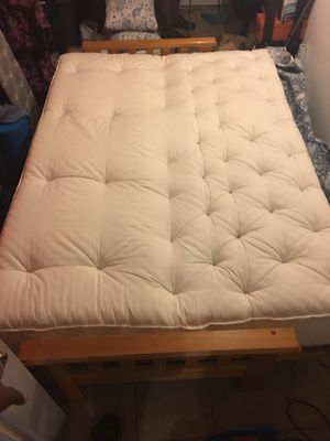 Off White Full Size Futon Mattress With Cover And Frame For In Brooklyn