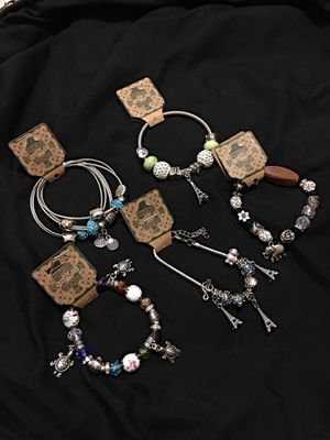 5 bundled charm bracelets for Sale in Clermont, FL