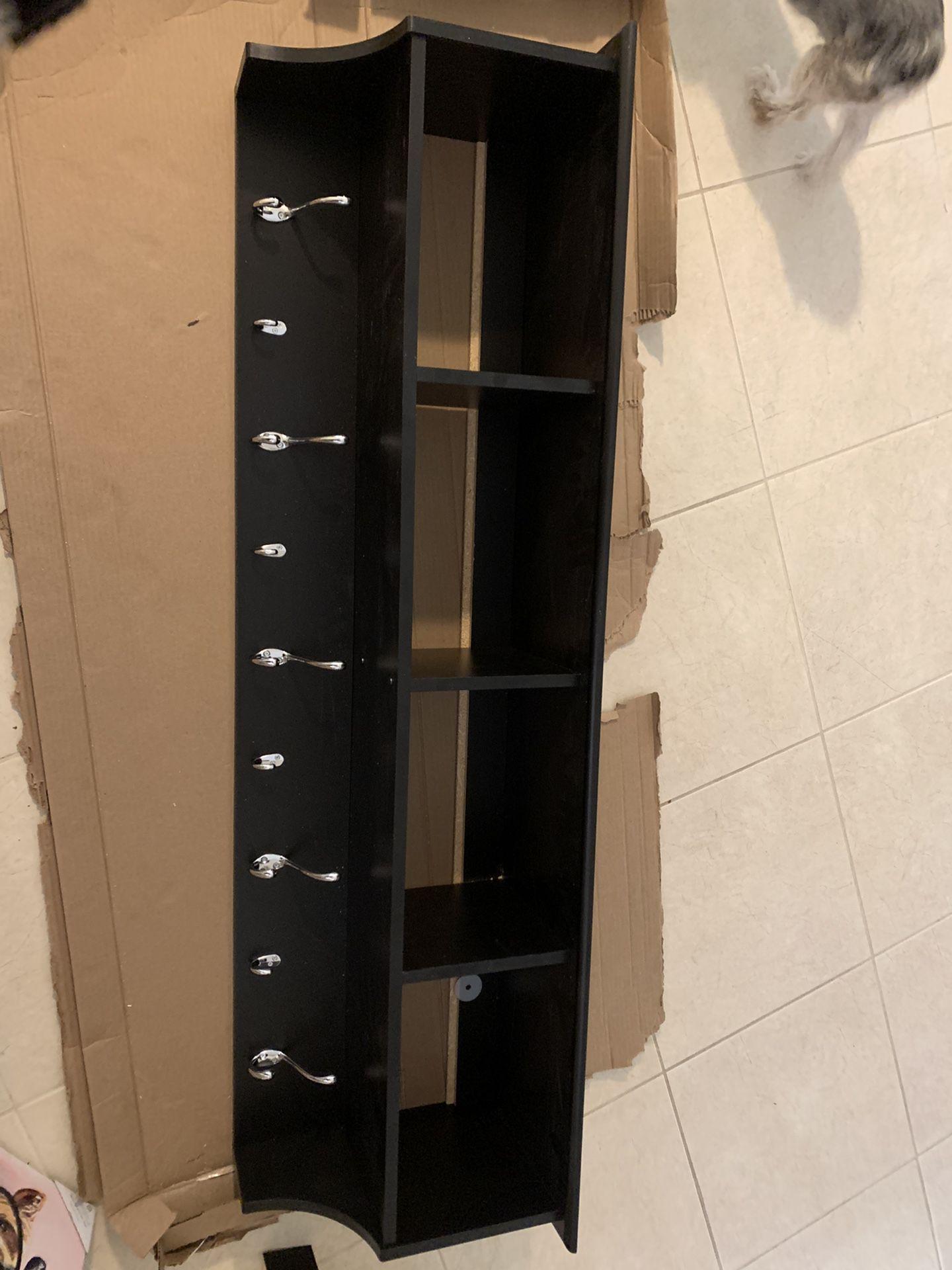 """60"""" Black Entryway Shelf"""