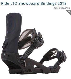Ride LTD Snowboard Bindings 2018 for Sale in Portland, OR