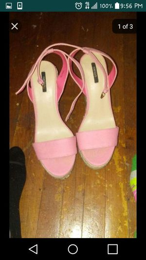 Light Pink Wedges. Size 8 1/2 for Sale in Chicago, IL