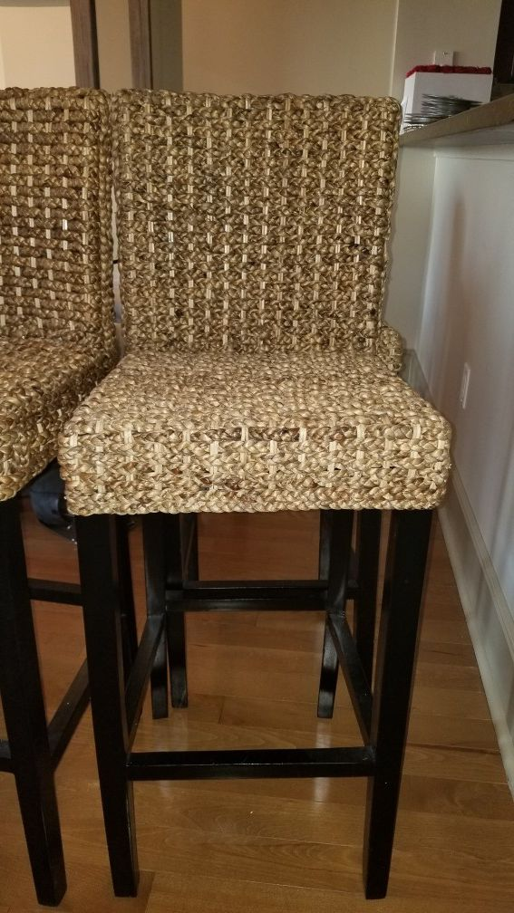 Glass Wood Dining Table, Bar Stools Set Of 4 Perfect Condition Z Gallerie For Sale In Dallas Tx Offerup