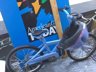 American Doll bicycle and helmet Thumbnail