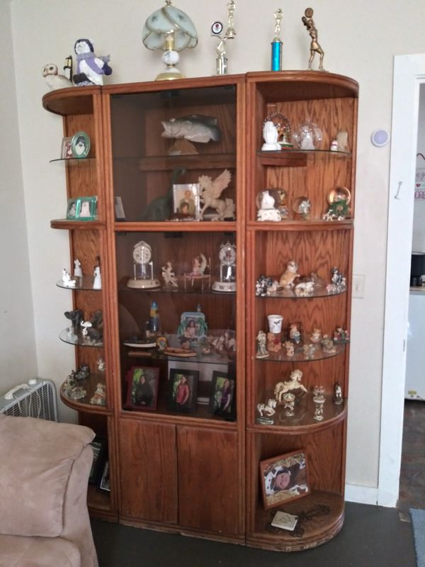 Curio cabinet lights up nice piece of furniture for Sale ...