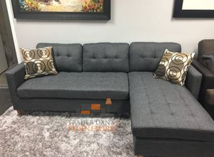 Brand new linen sectional sofa with reversible chaise for Sale in Silver Spring, MD