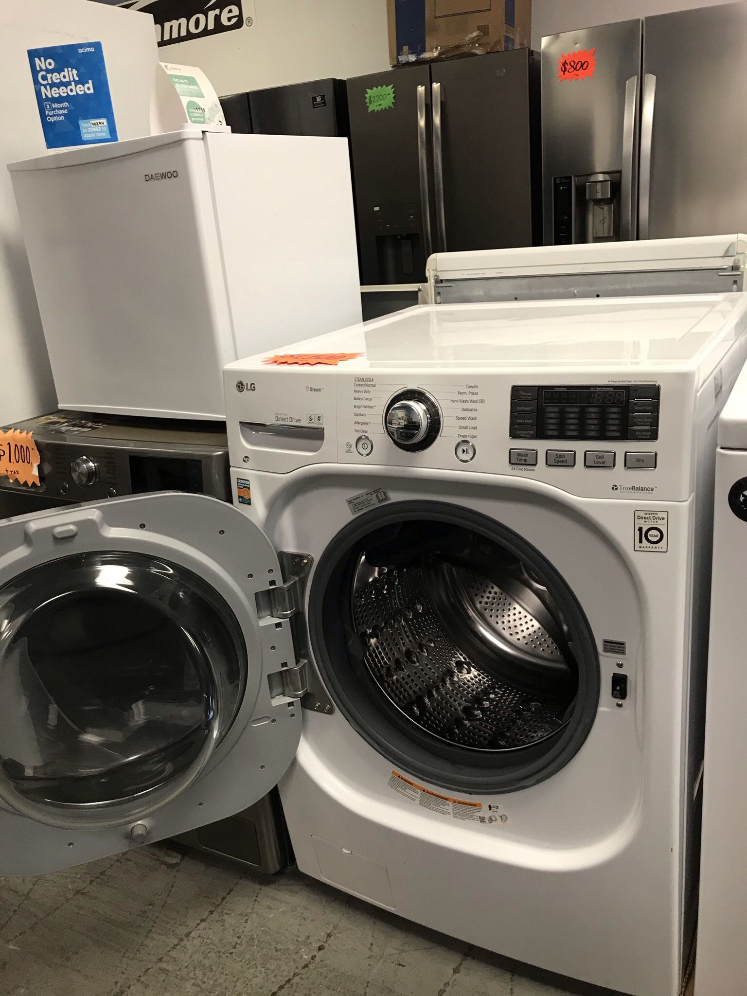 LG WASHER AND DRYER ALL IN ONE BRAND NEW OPEN BOX