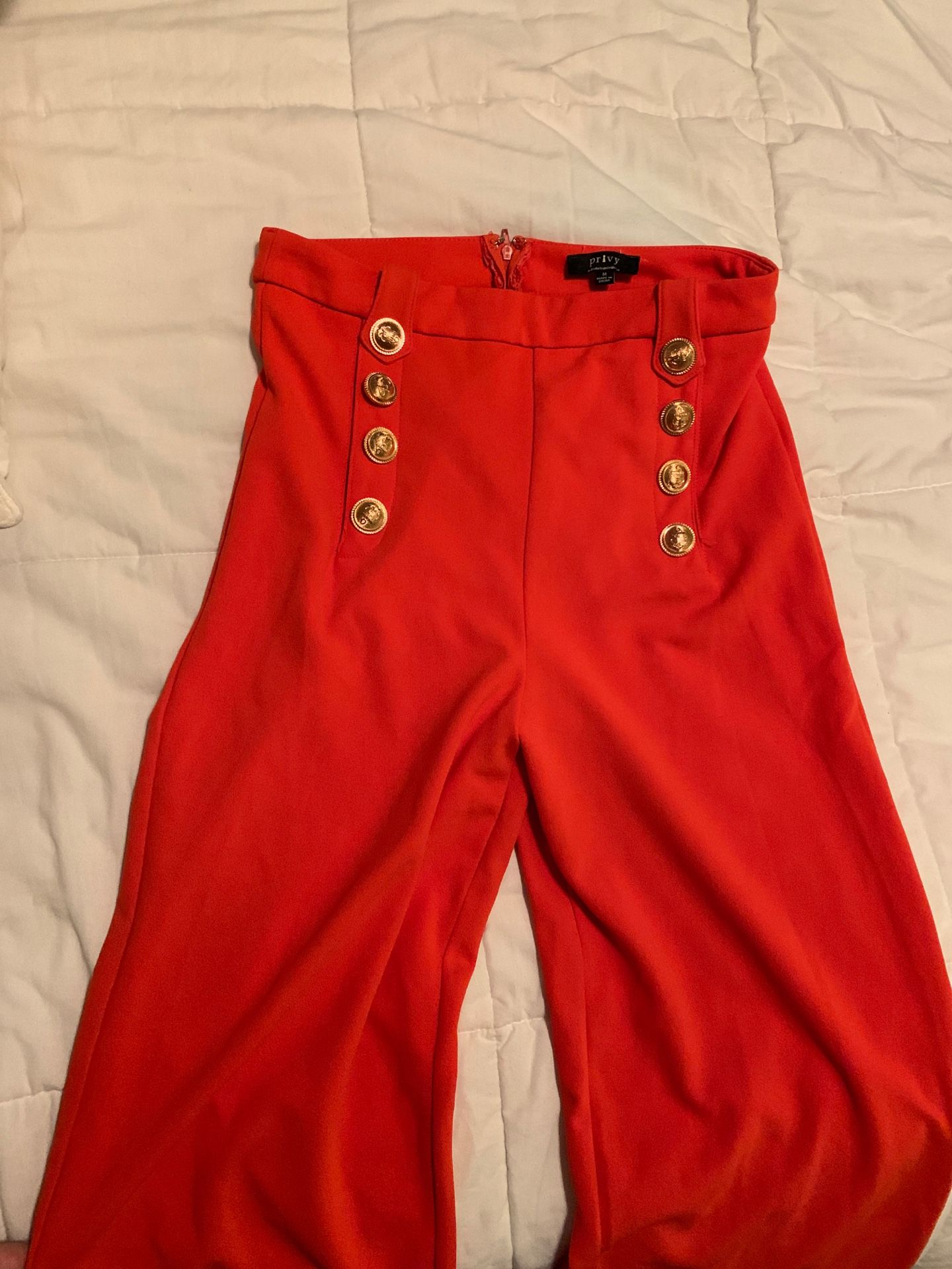 Orange loose pants size medium