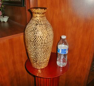 "(FREE DELIVERY) 14"" gold textured vase for Sale in North Las Vegas, NV"