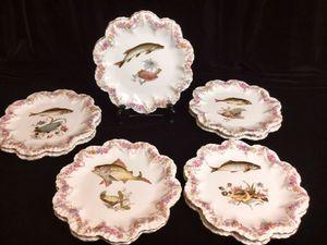 Vintage Fish Plates for Sale in Burke, VA