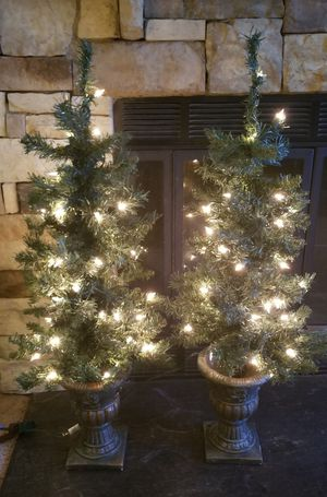 Set of two Pre-Lit Porch Trees ( Pending Sale) for Sale in Cary, NC