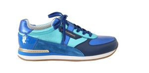 DOLCE & GABBANA BLUE LEATHER MENS CASUAL SNEAKERS for Sale in Jessup, MD