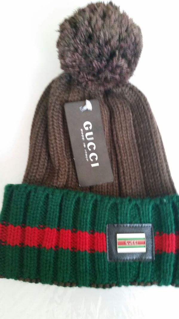 NEW Gucci Beanie Hat Cap. Brown Green Red. for Sale in Hayward cfd76f0fa03