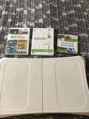 Wii fit board, game & 2 other games for Sale in Alexandria, VA