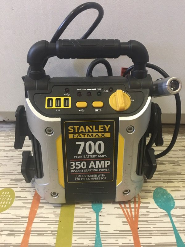 Stanley jumpbox and air compressor! Only used twice for Sale in Tacoma, WA  - OfferUp
