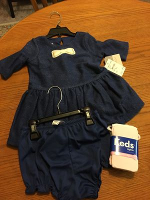 New with tags, 24m dress with bloomers and new tights for Sale in Auburn, WA
