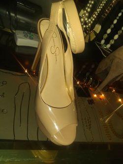 Cream heels Thumbnail