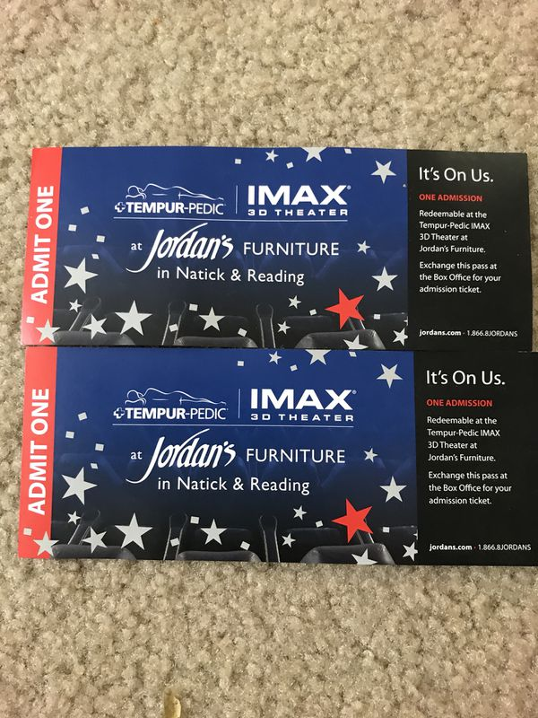 Imax 3 D Movie Vouchers For Sale In Malden Ma Offerup