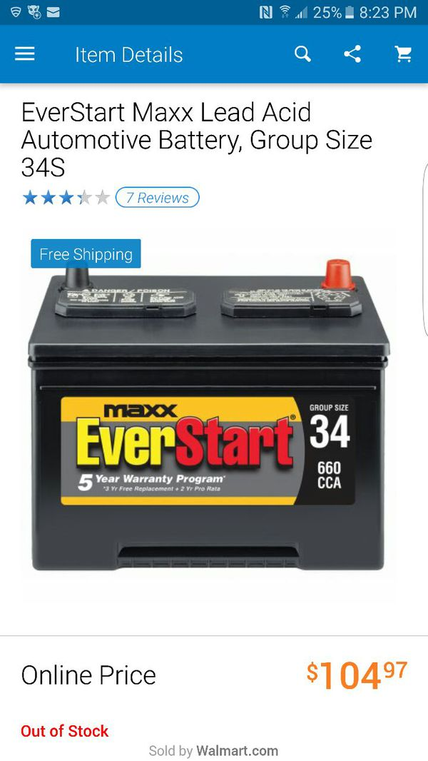 Car Battery Group Size 25