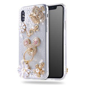 Luxury women design bling Diamond Pearl cell phone case. for Sale in Orlando, FL